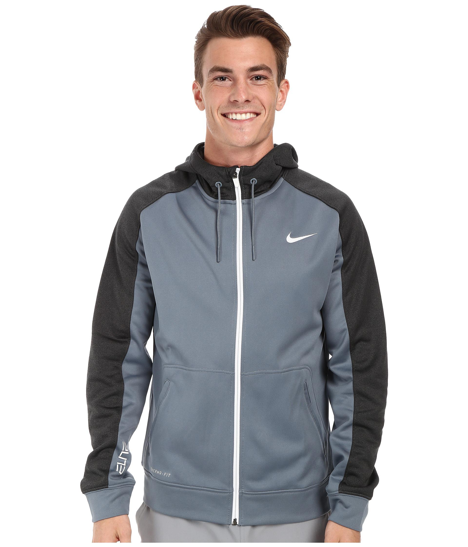 82d07a6be9d4 Lyst - Nike Elite Stripe Full-Zip Performance Fleece Hoodie in Blue