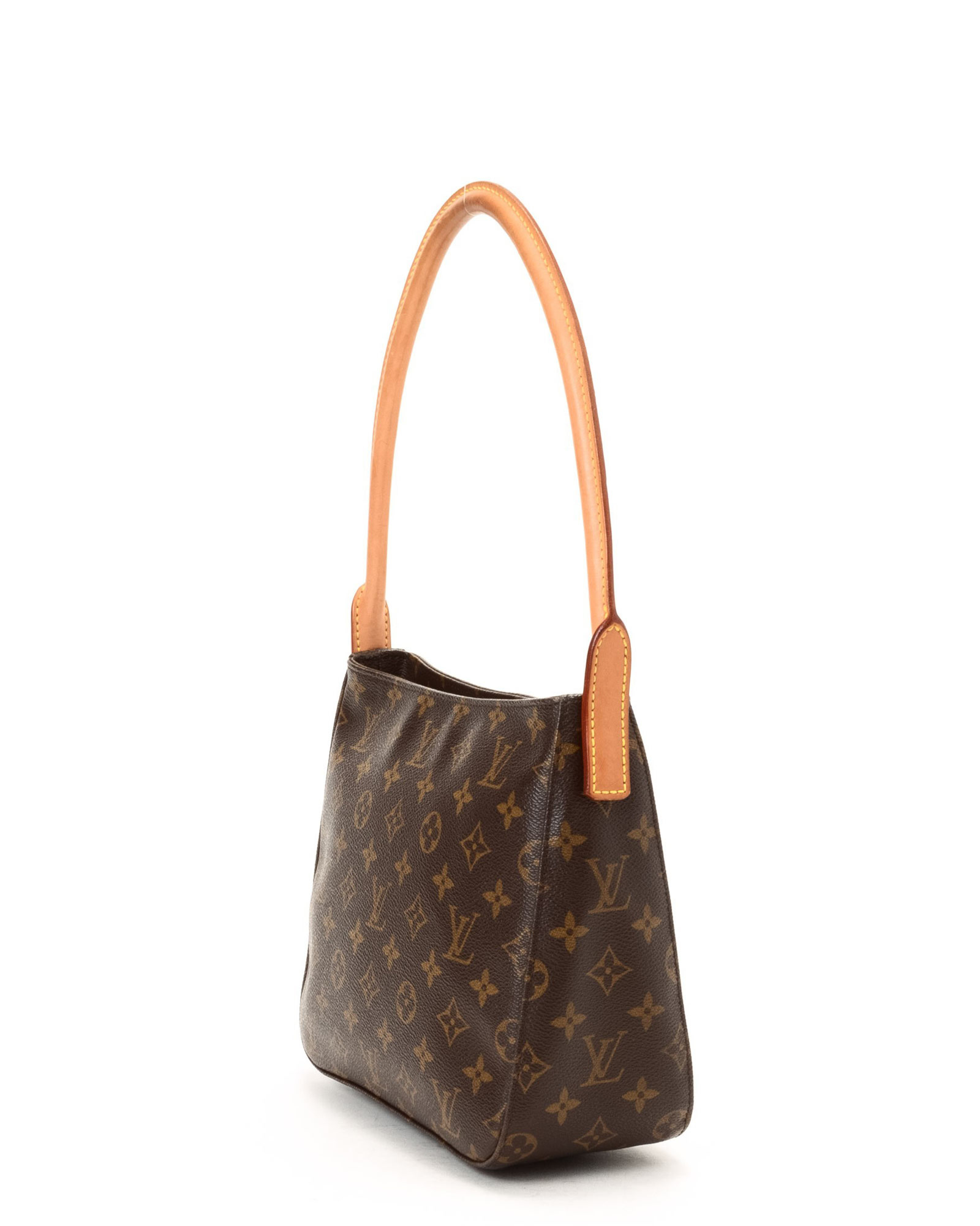lyst louis vuitton monogram shoulder bag vintage in brown. Black Bedroom Furniture Sets. Home Design Ideas
