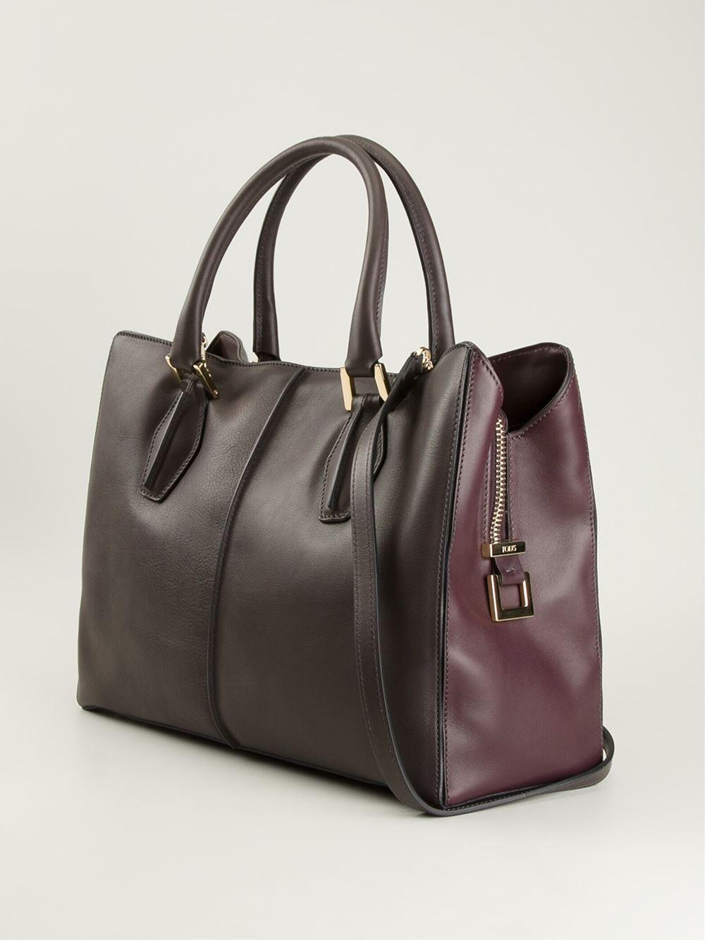 Tod's Medium 'D-Cube' Shopping Bag in Brown