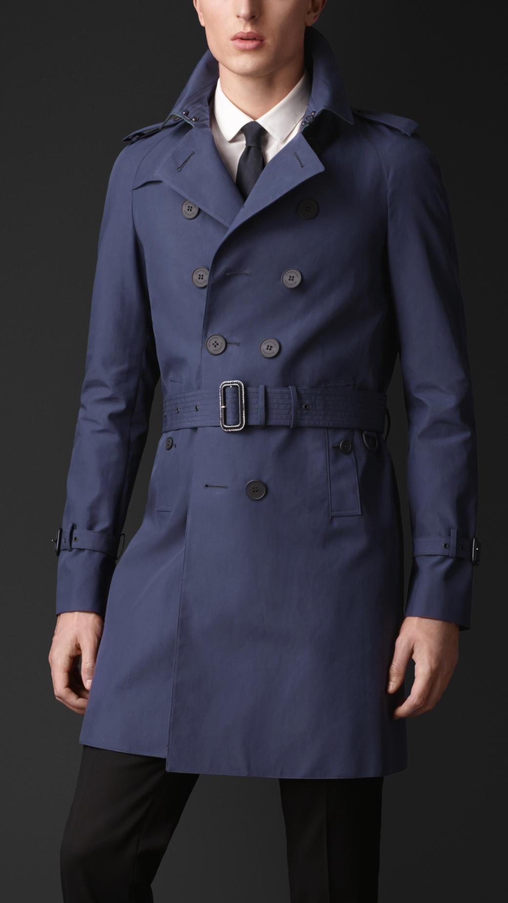 5969481f25fd Burberry Blue Raincoat