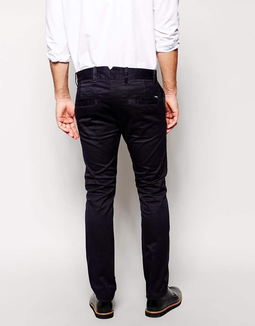 e4c71073 DIESEL Chinos Chi Tight Slim Fit in Blue for Men - Lyst
