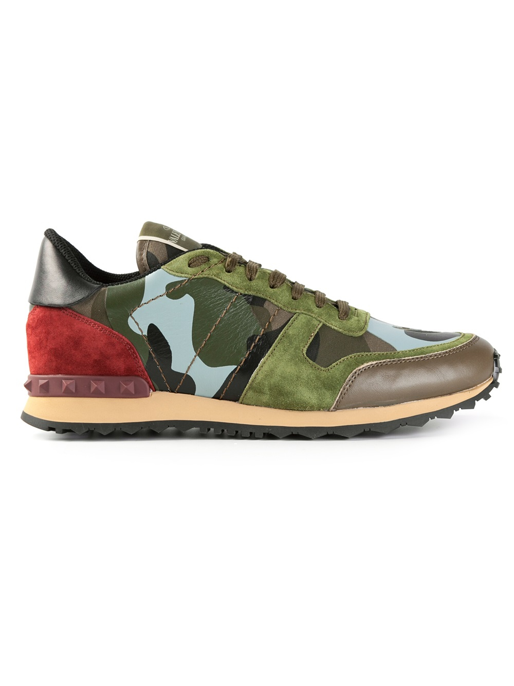 lyst valentino camouflage sneakers in green for men. Black Bedroom Furniture Sets. Home Design Ideas