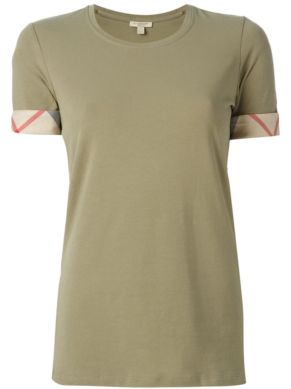 burberry brit slim fit t shirt in green lyst. Black Bedroom Furniture Sets. Home Design Ideas