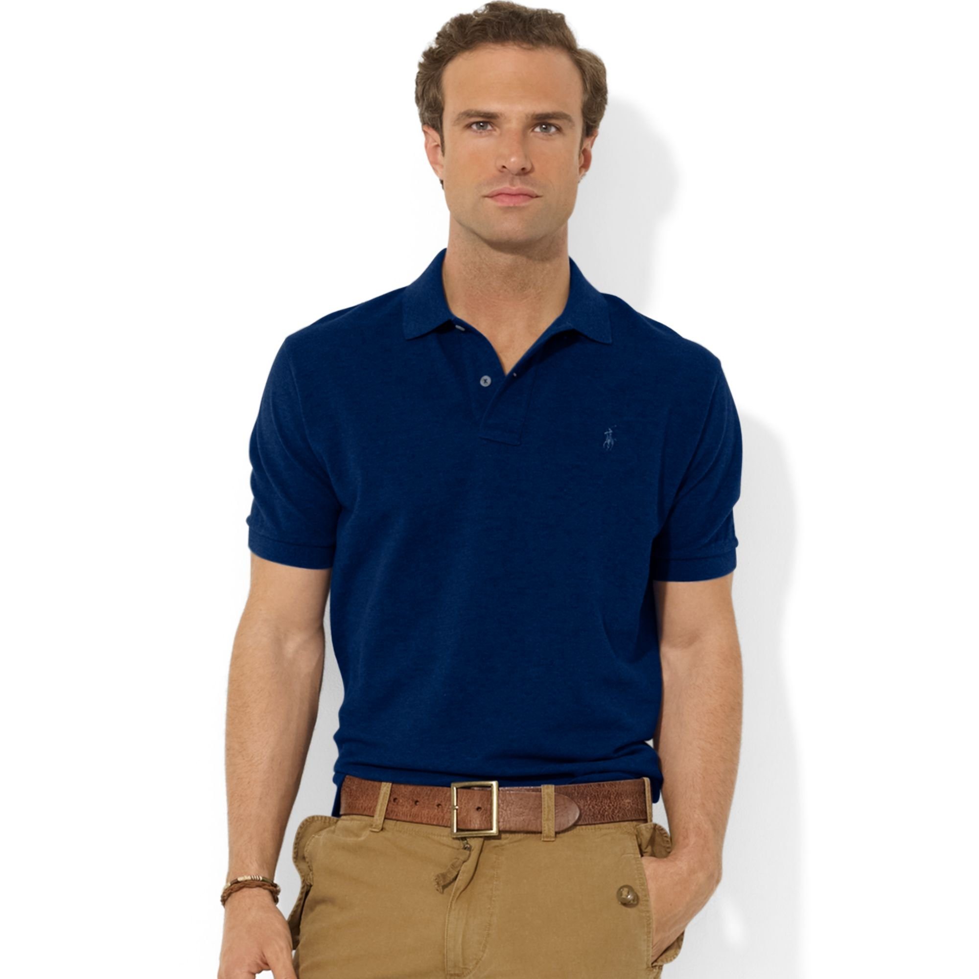 Polo ralph lauren Classic-Fit Short-Sleeve Cotton Mesh Polo in Blue for Men