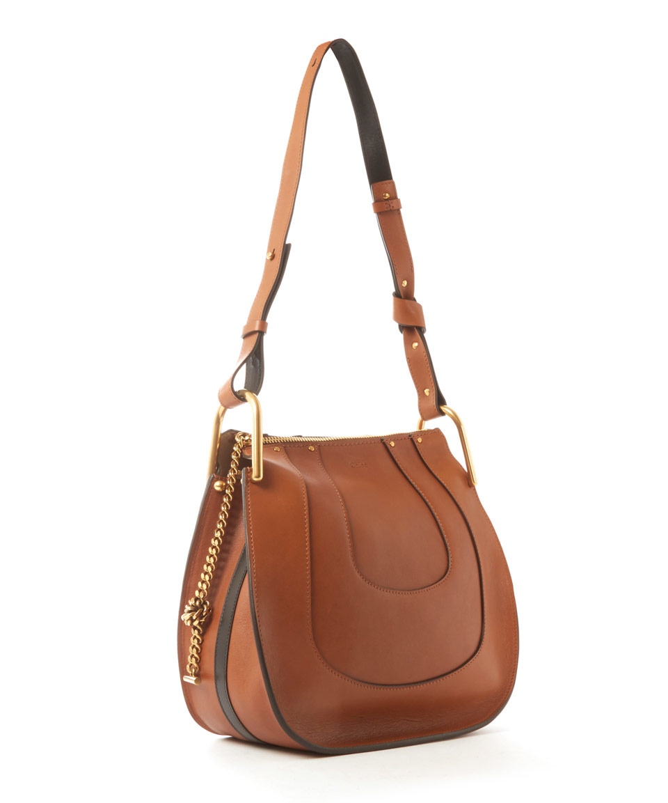 Chloé Small Tan Hayley Leather Hobo Bag in Brown   Lyst