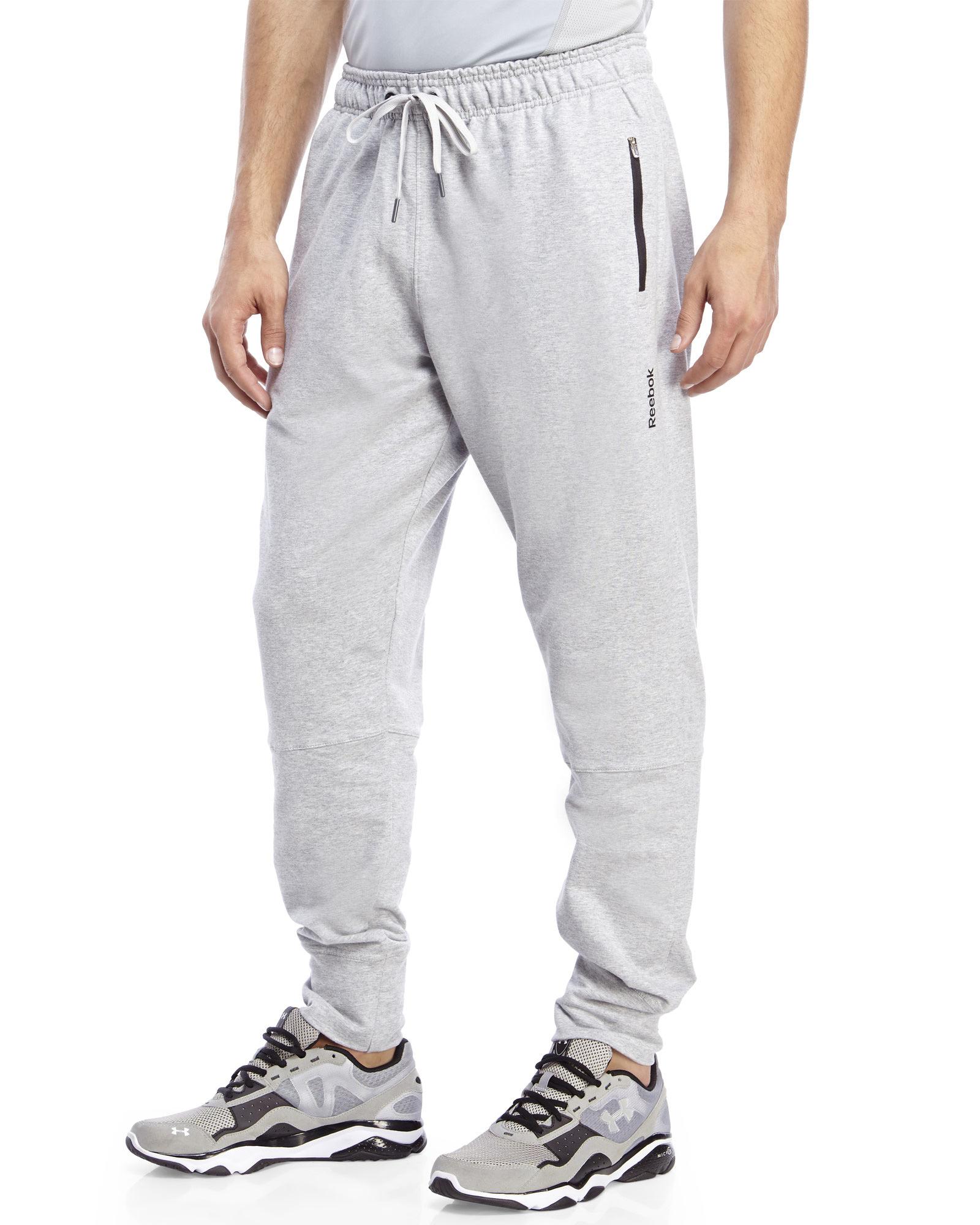 7defe74c11 Reebok Gray Double Time Sweatpants for men
