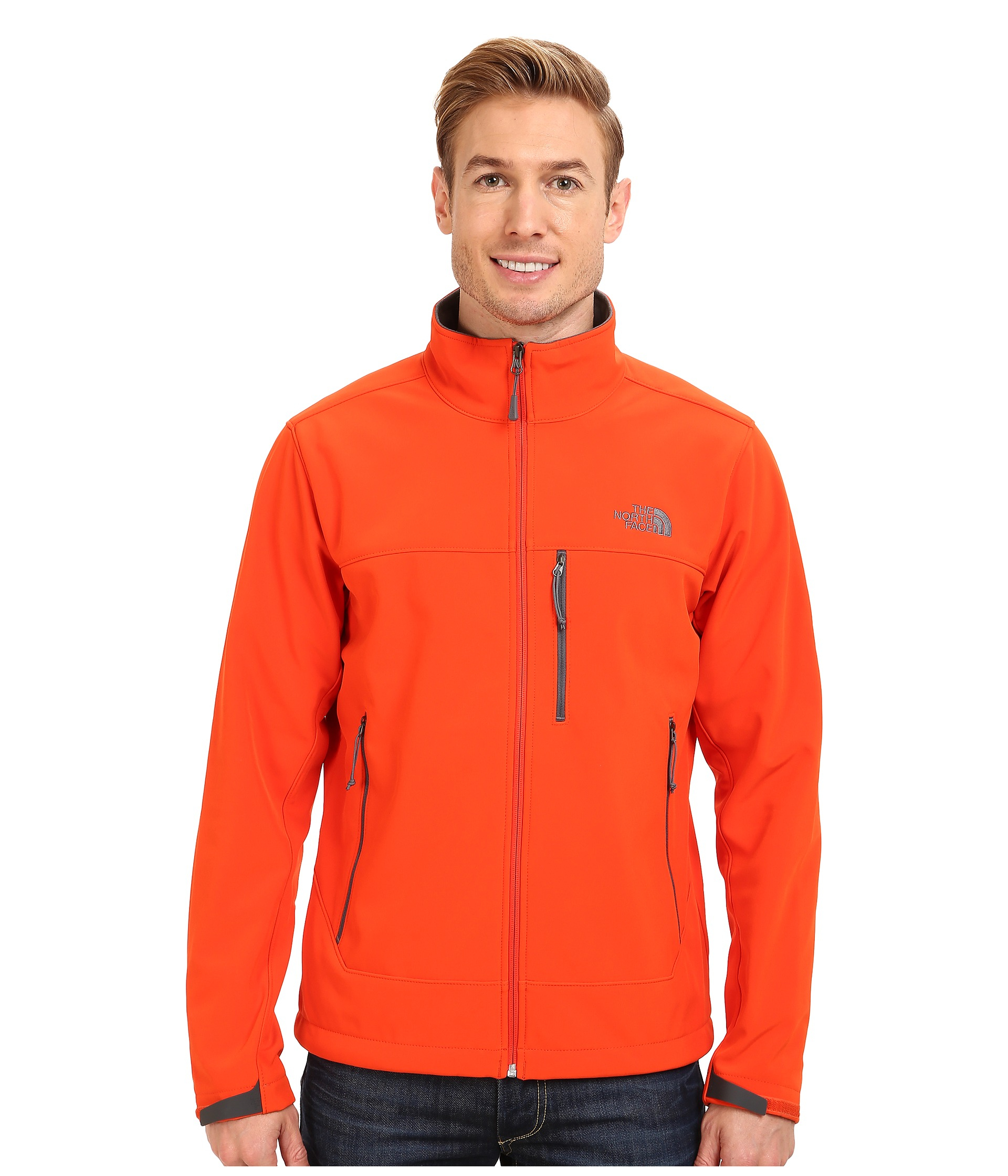 The North Face Apex Bionic Jacket In Orange For Men