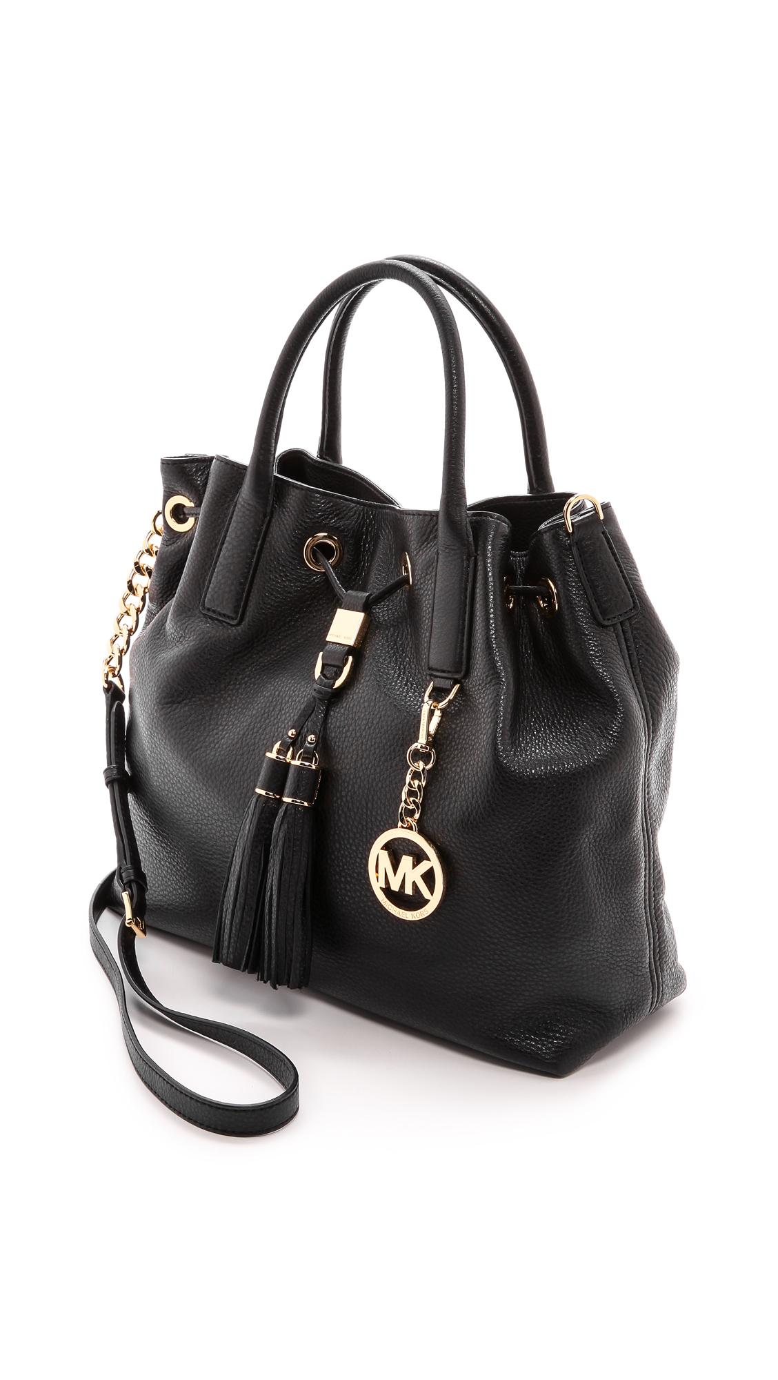 025e4d9247633d ... wholesale lyst michael michael kors camden large drawstring satchel  black in black dd764 67ce1