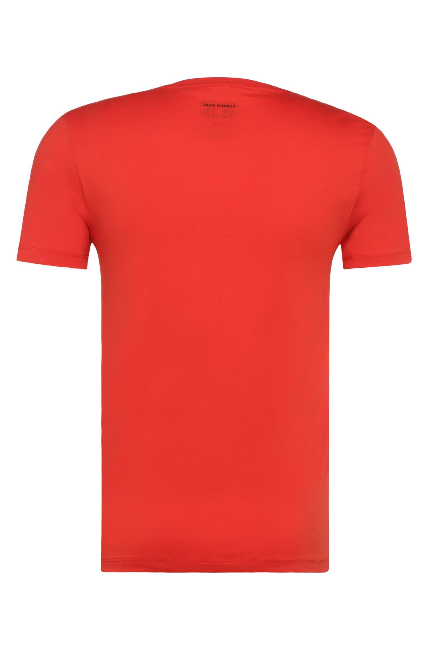 lyst boss orange t shirt in slub yarn jersey 39 tomsin 6. Black Bedroom Furniture Sets. Home Design Ideas