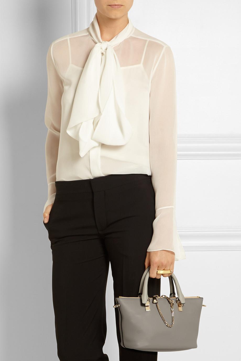 chloe baylee satchel leather mini