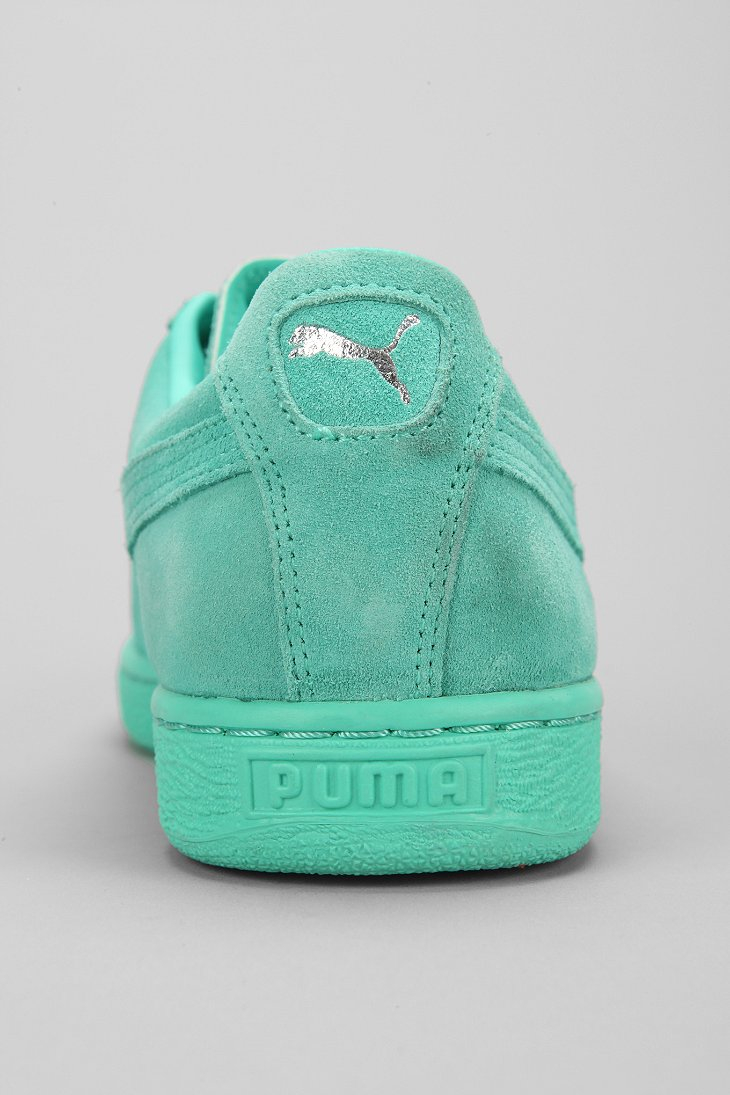 Puma Classic Mono Suede Sneaker In Green For Men Lyst