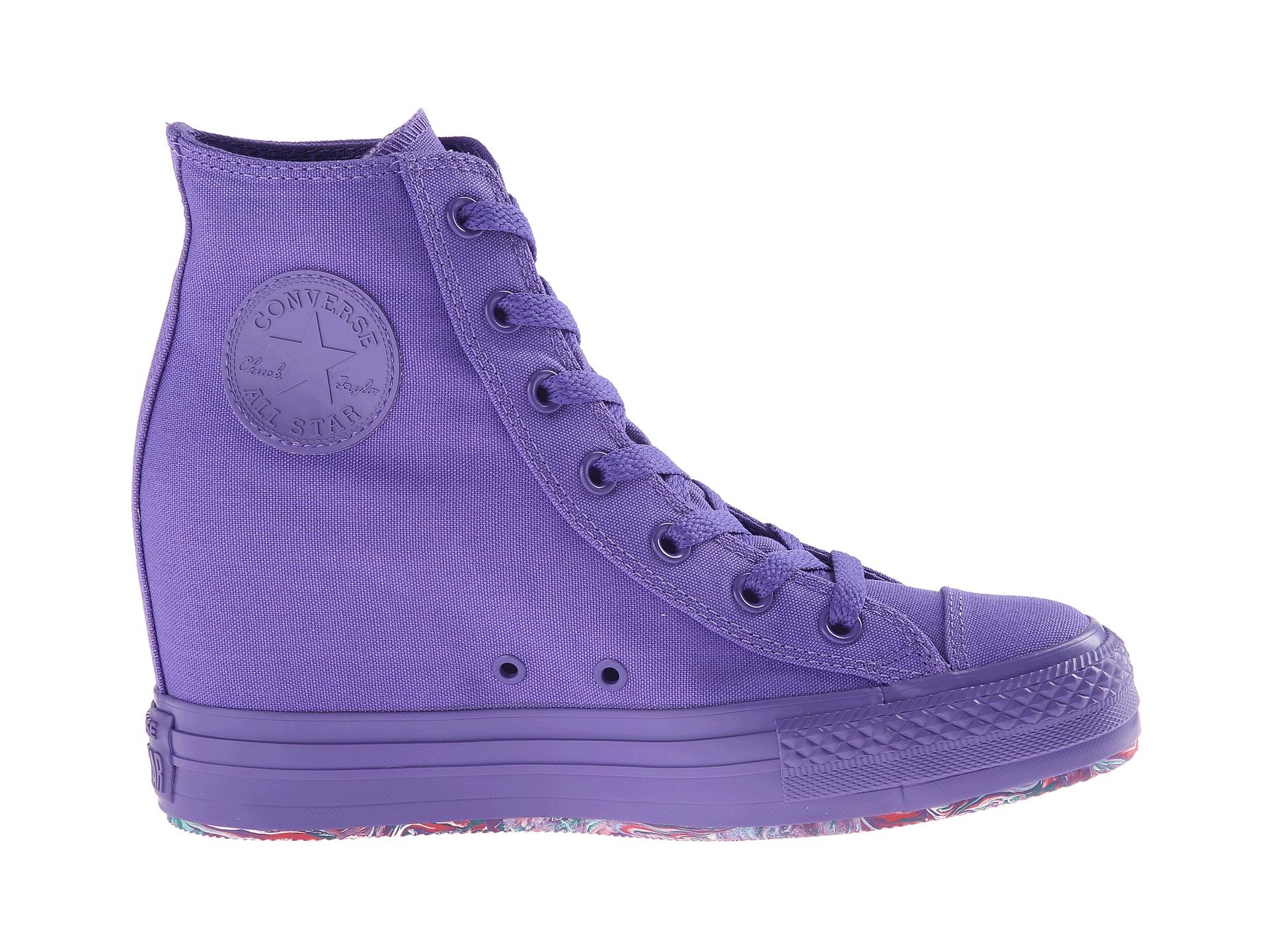 d7c5b9660a717b Lyst - Converse Chuck Taylor All Star Platform Plus Hi in Purple