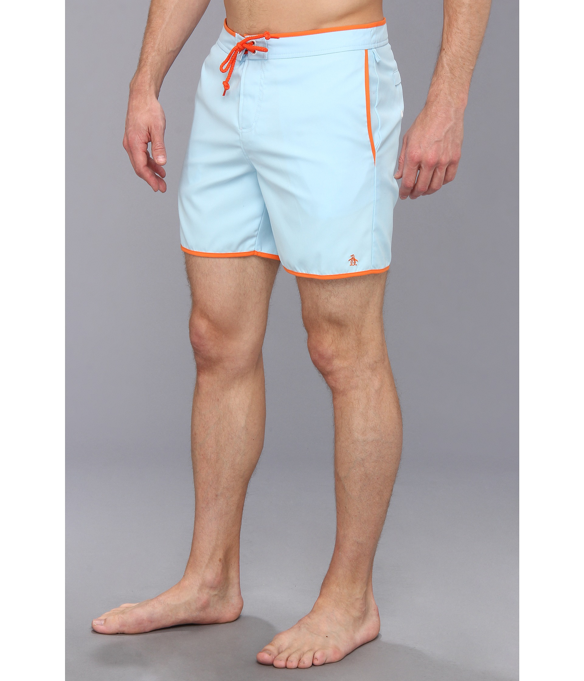af60742182 Original Penguin Earl Fixed Waist Volley Swim Short in Blue for Men ...