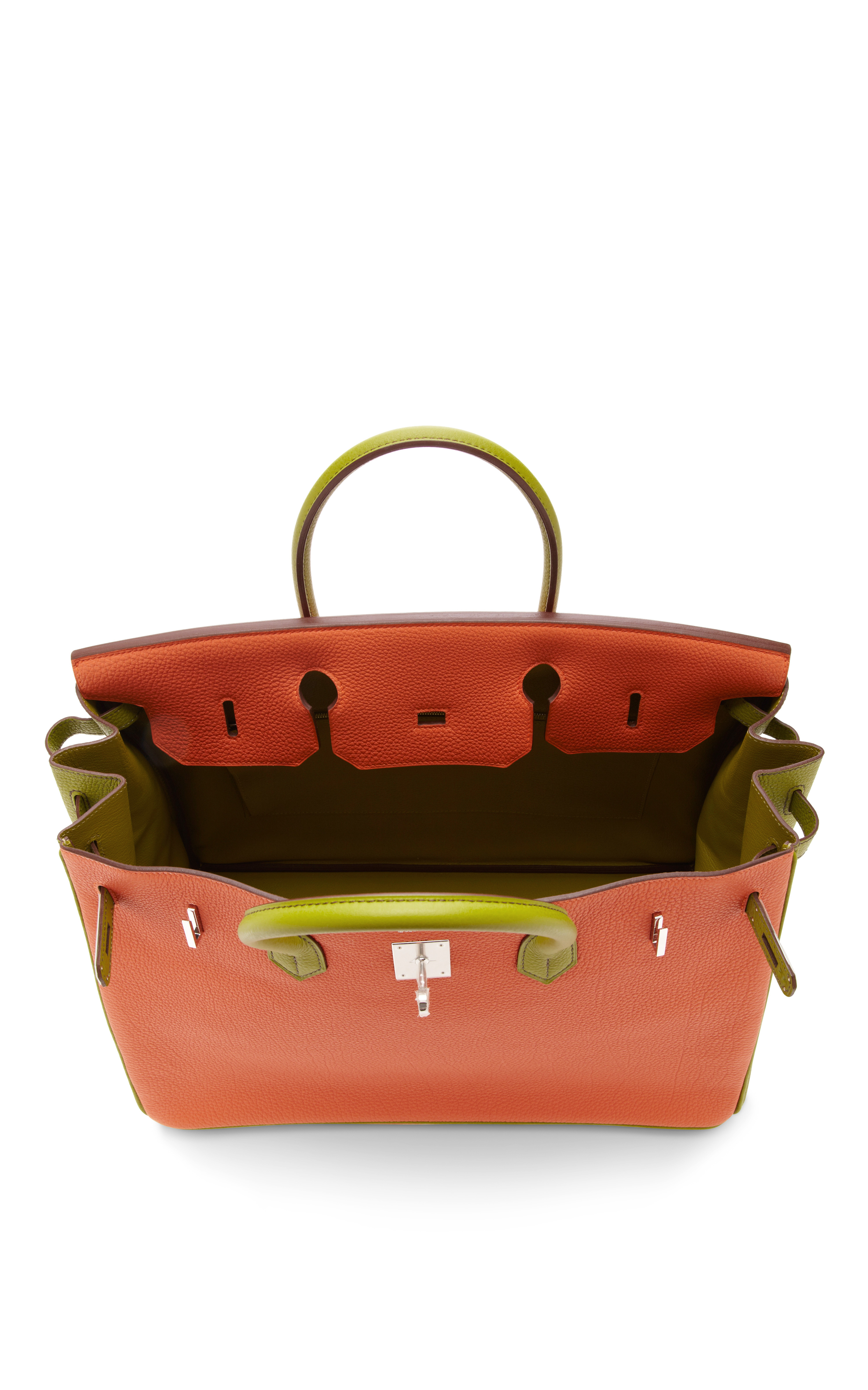 Heritage auctions special collection Hermes 40cm Orange H Vert ...