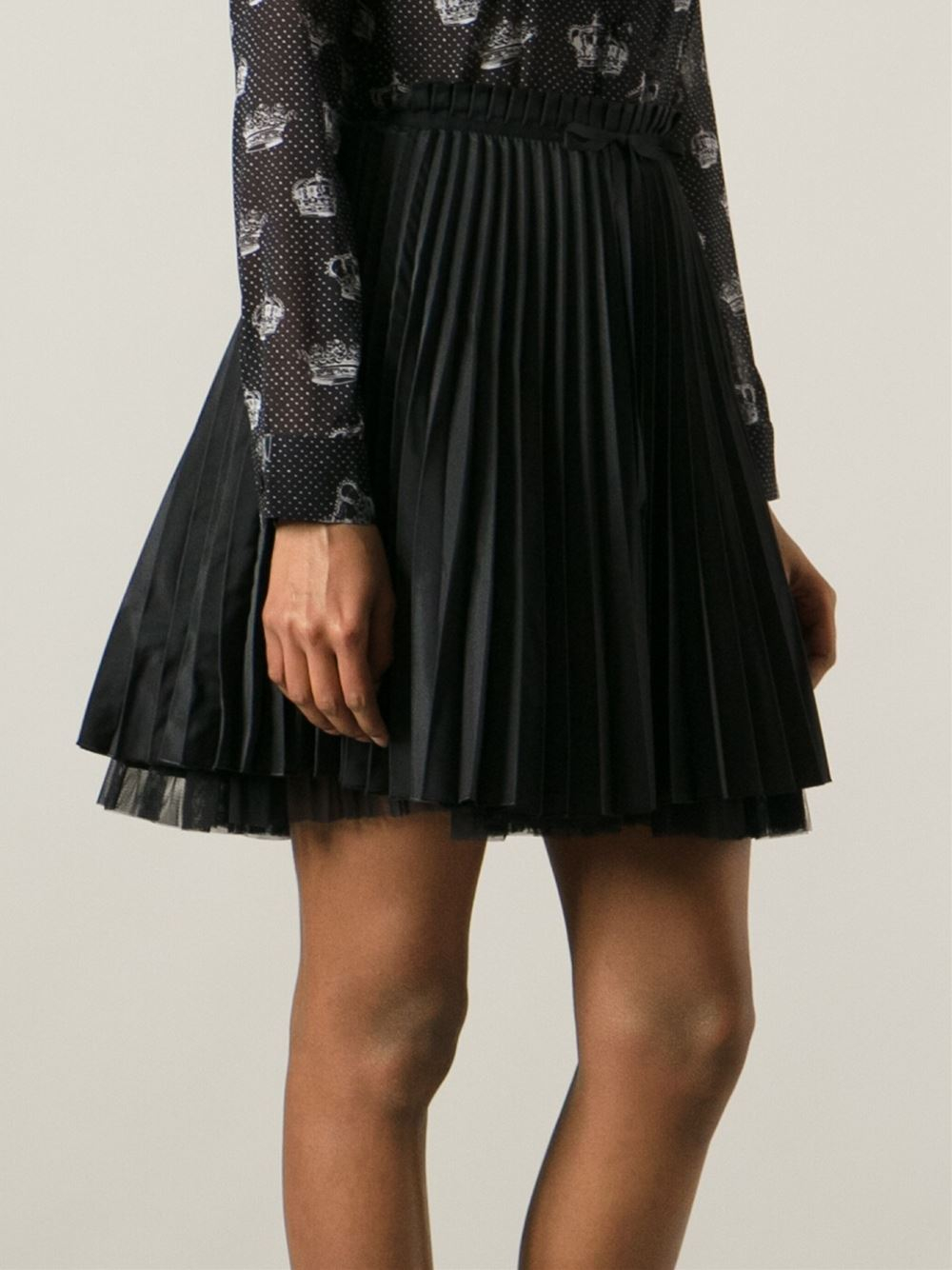 Awesome Uniqlo Women Chiffon Pleated Print Mini Skirt In Black | Lyst