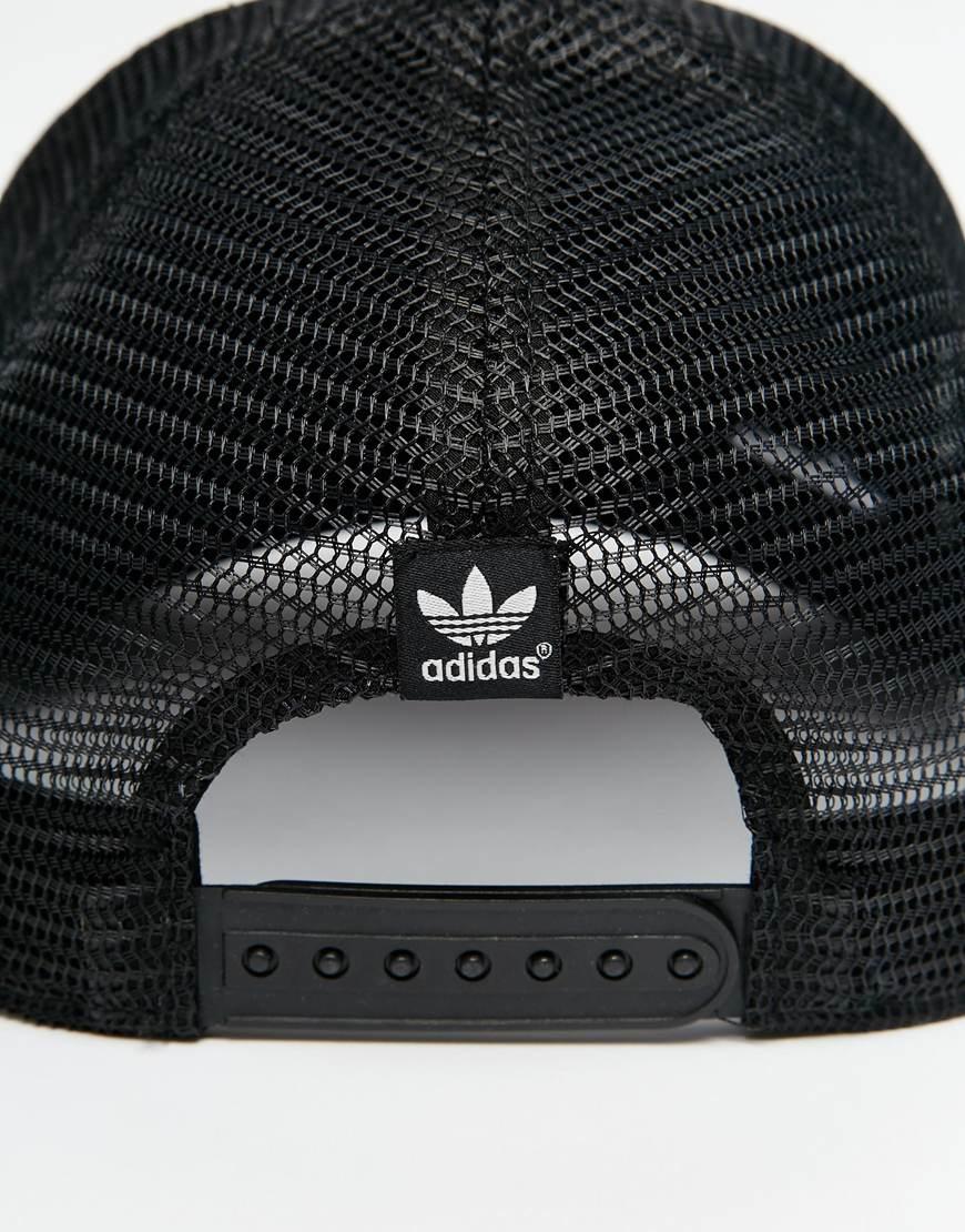 Lyst adidas Originals Trucker Cap en negro para hombres