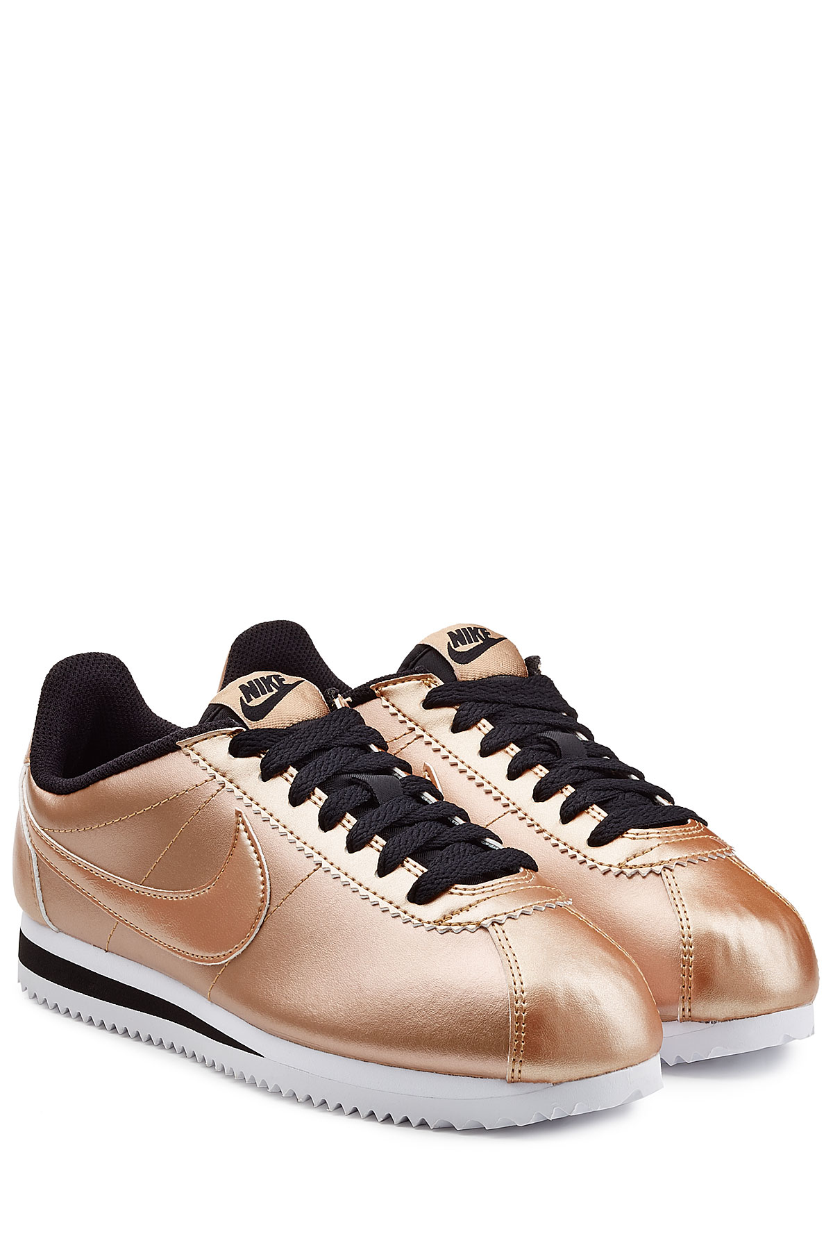 Lyst Nike Classic Cortez Metallic Leather Sneakers Rose In Pink