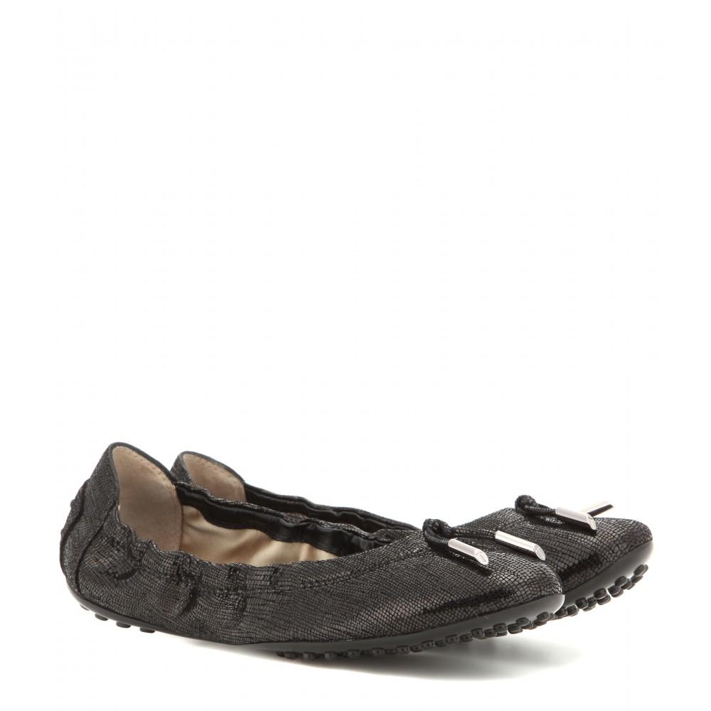 Tod's Metallic leather ballerinas Nh0Uf