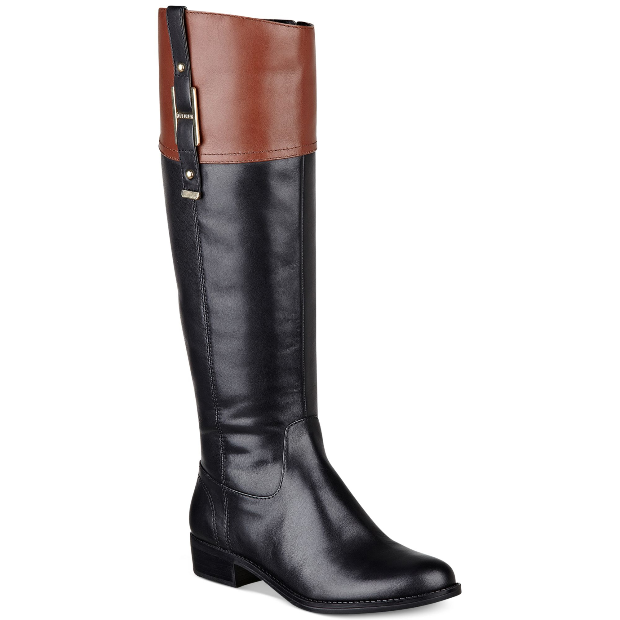 tommy hilfiger women 39 s gibsy tall riding boots in black. Black Bedroom Furniture Sets. Home Design Ideas