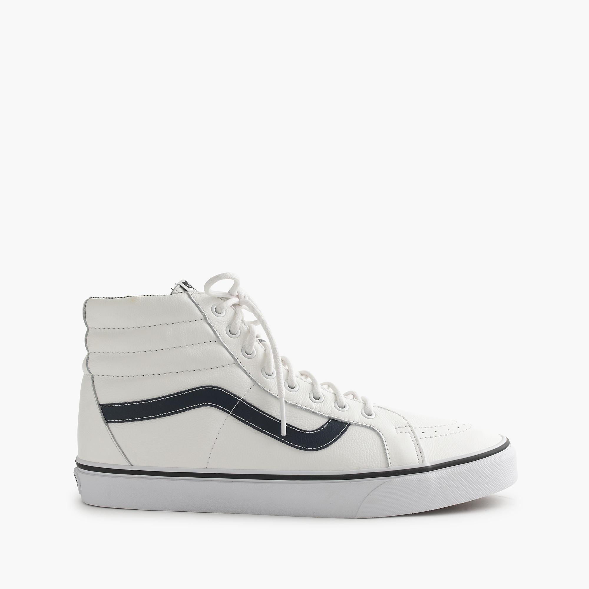 J.Crew Vans Sk8-hi Leather Sneakers in