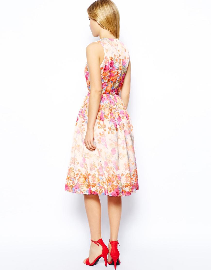 Lyst - ASOS Floral Prom Dress