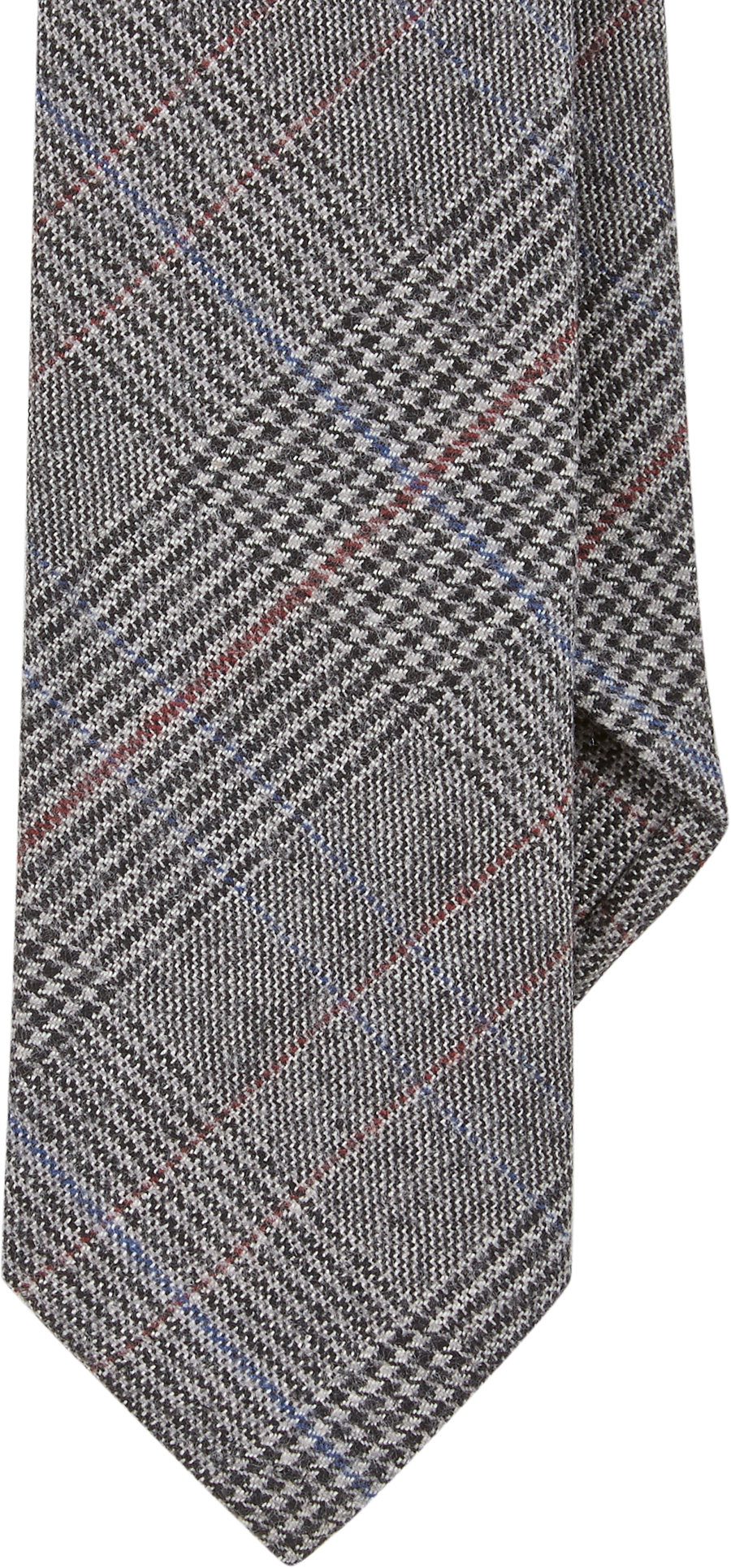 todd snyder glen plaid jacquard tie in gray for lyst