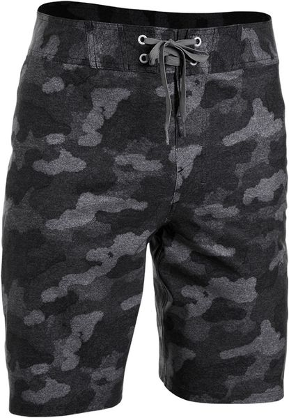under armour passage camo print board shorts in gray for