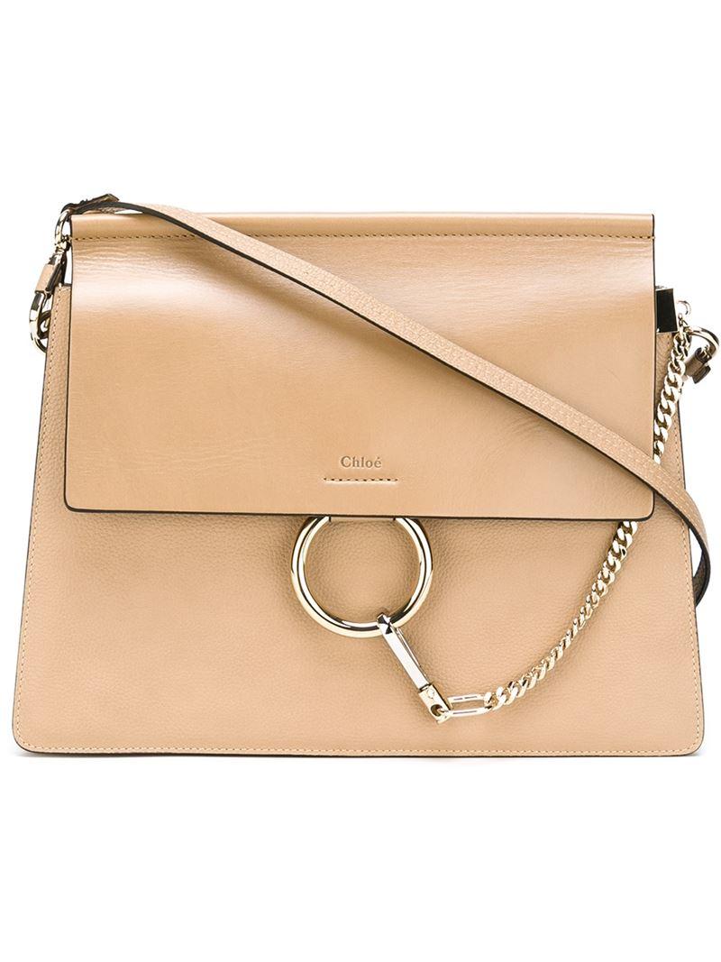 f445fc1847101 Chloé 'Faye' Shoulder Bag in Natural - Lyst