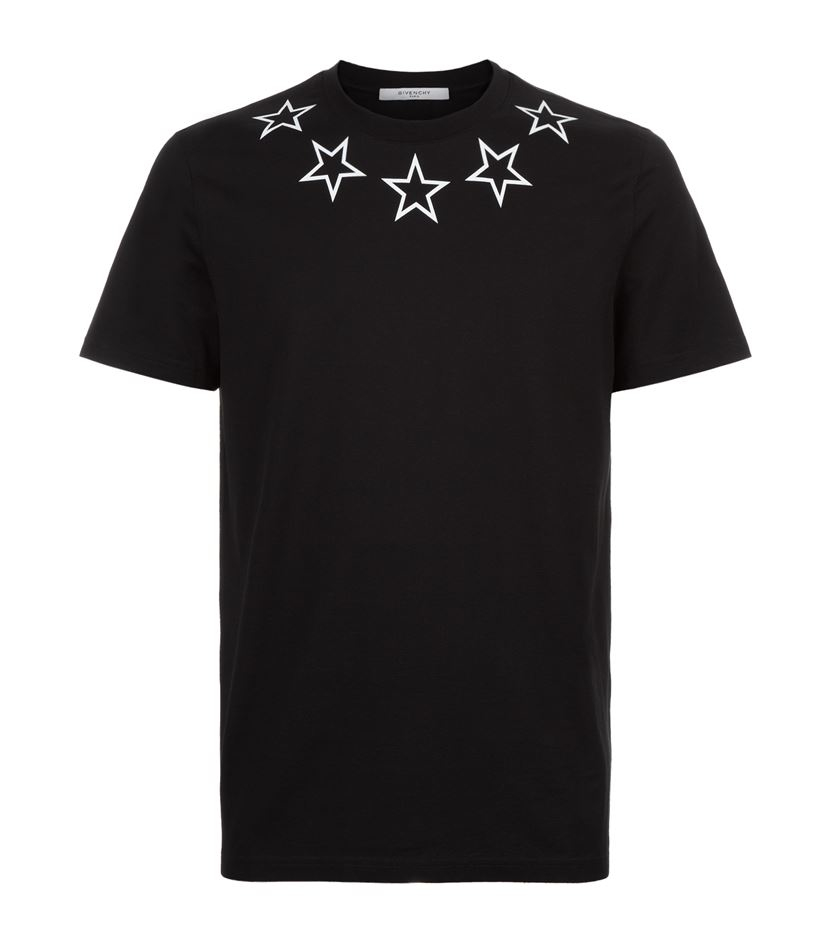 Givenchy star neck t shirt in black for men lyst for Givenchy t shirt man