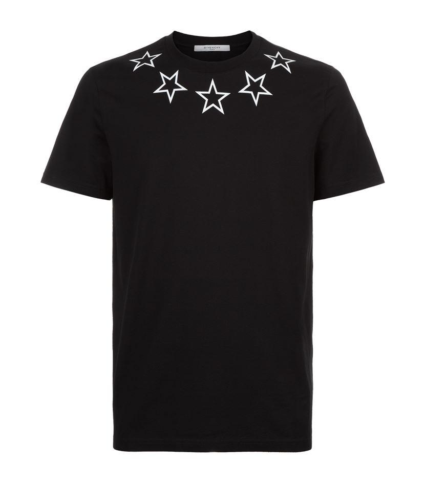 givenchy star neck t shirt in black for men lyst. Black Bedroom Furniture Sets. Home Design Ideas