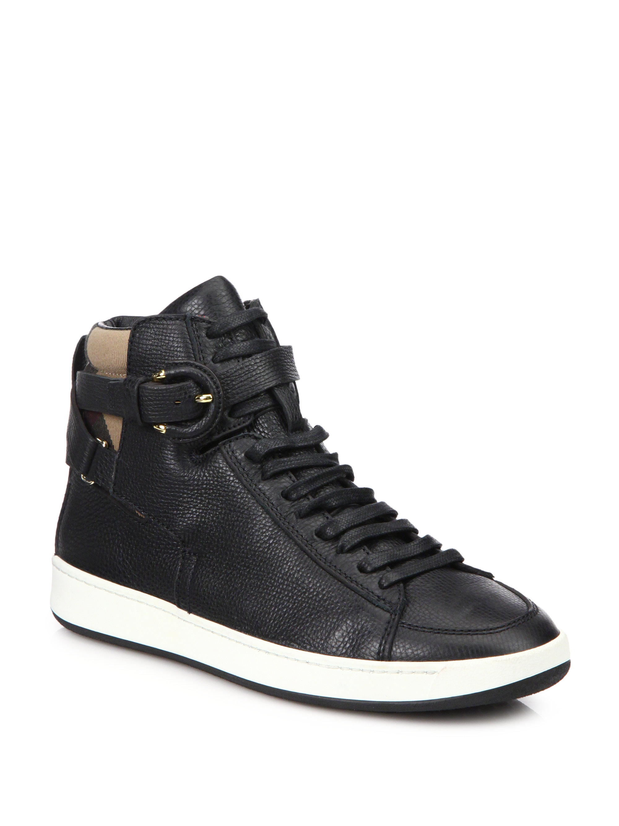 discount real largest supplier cheap price Burberry Leather High-Top Sneakers cheap sale enjoy online shop from china top quality cheap online xTdCtn7qmR