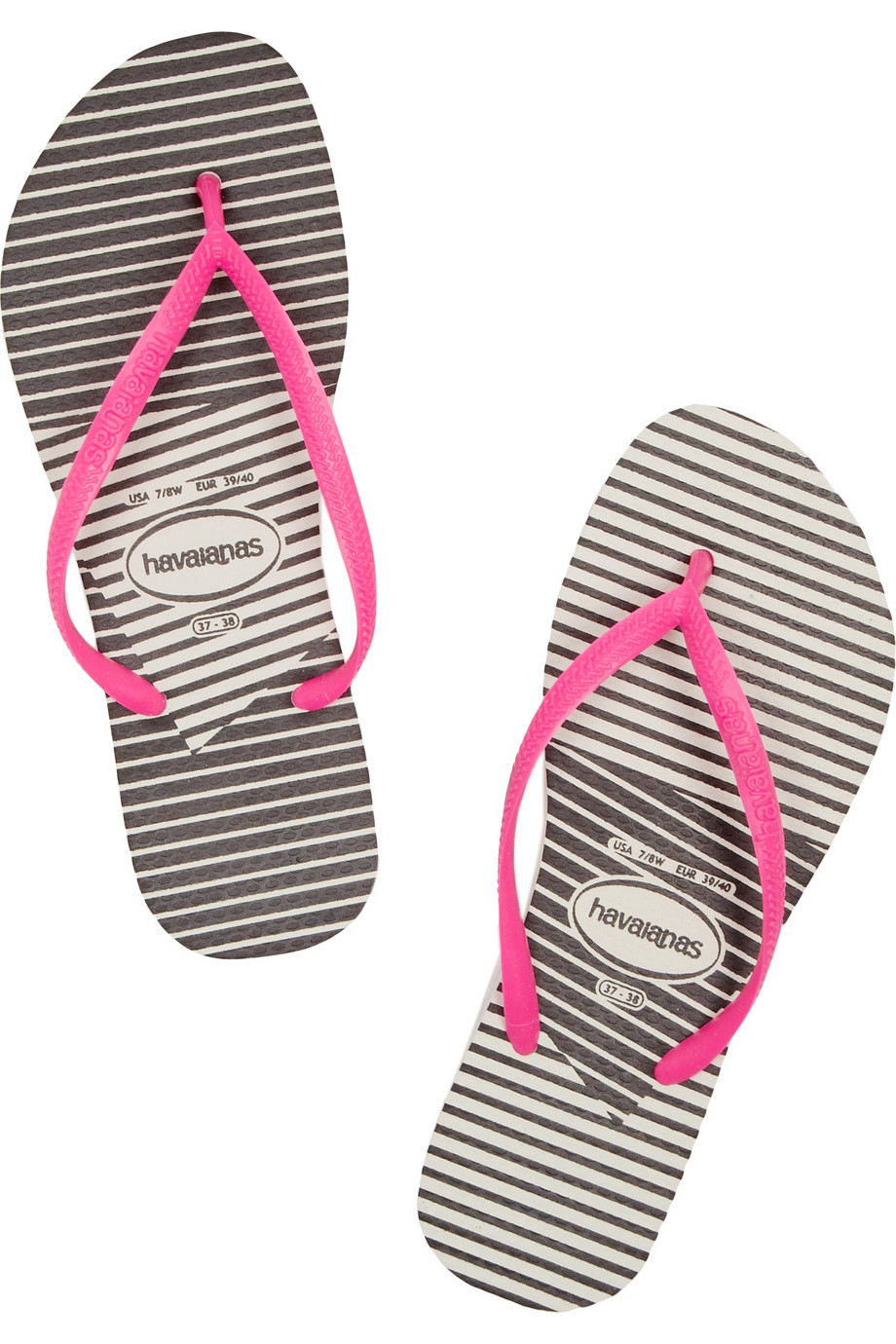 82e778d5390 Lyst - Havaianas Slim Striped Rubber Flip Flops in Pink