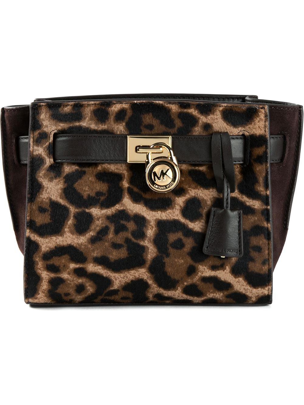 Hamilton Traveler Leopard Print Messenger Bag