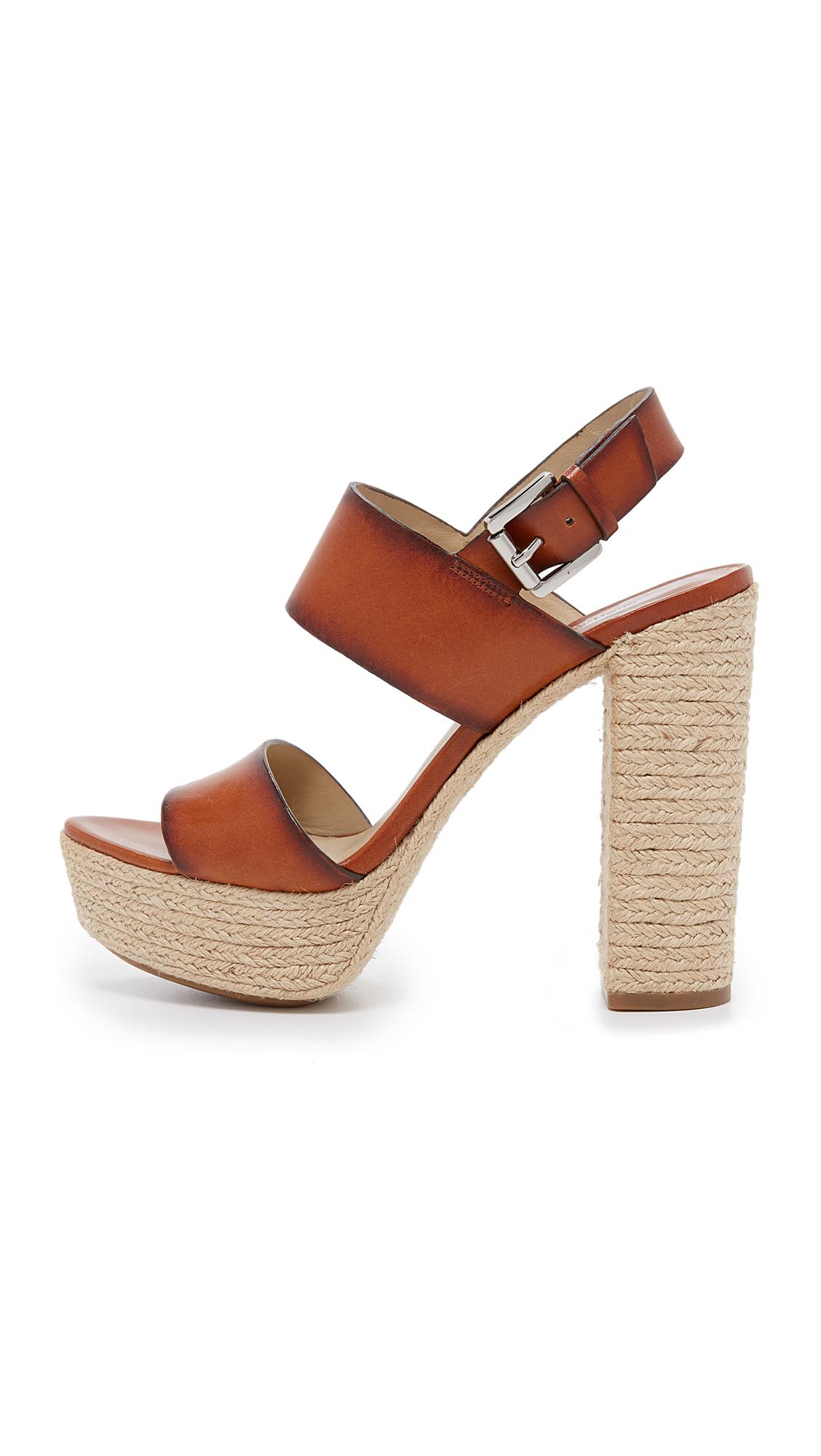 b5a55615c66e Lyst - Michael Kors Summer Platform Sandals in Brown