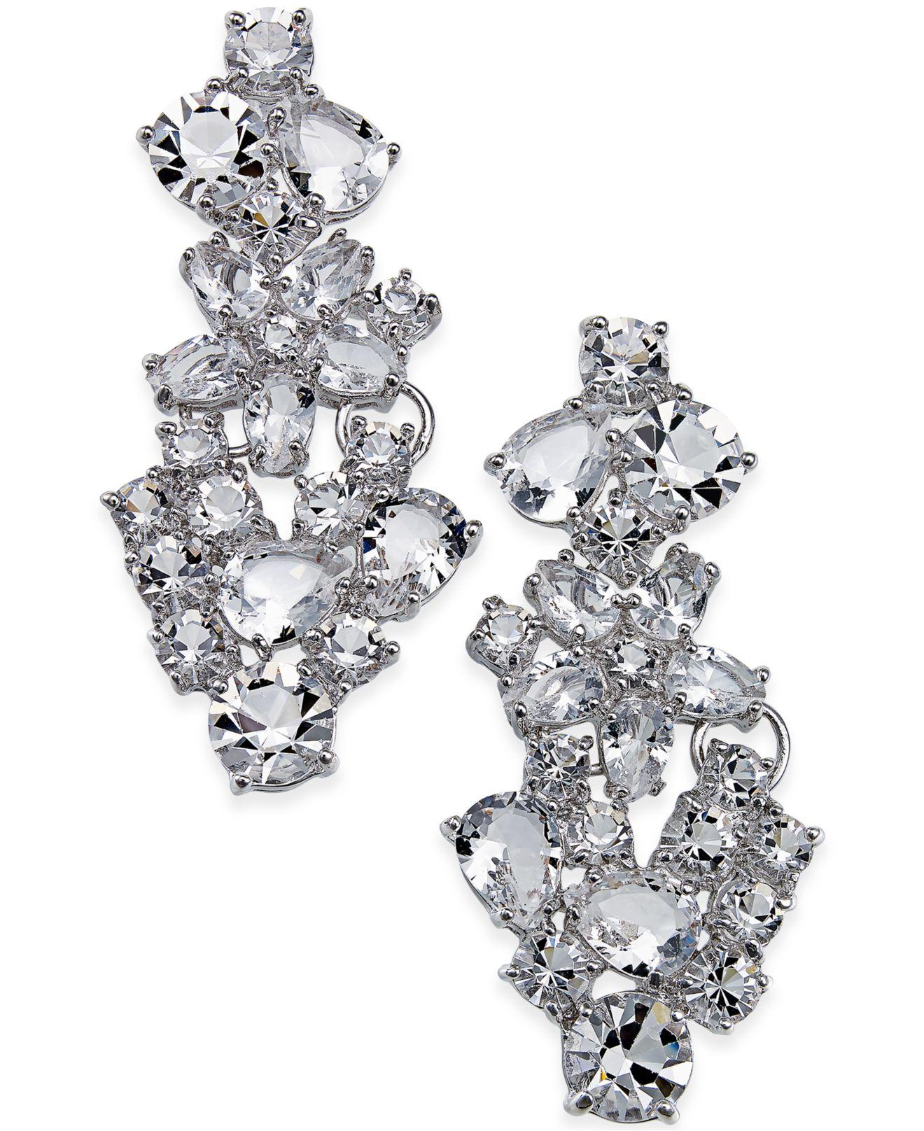 aead0c71c22de kate spade new york Multicolor Boathouse Crystal Statement Earrings