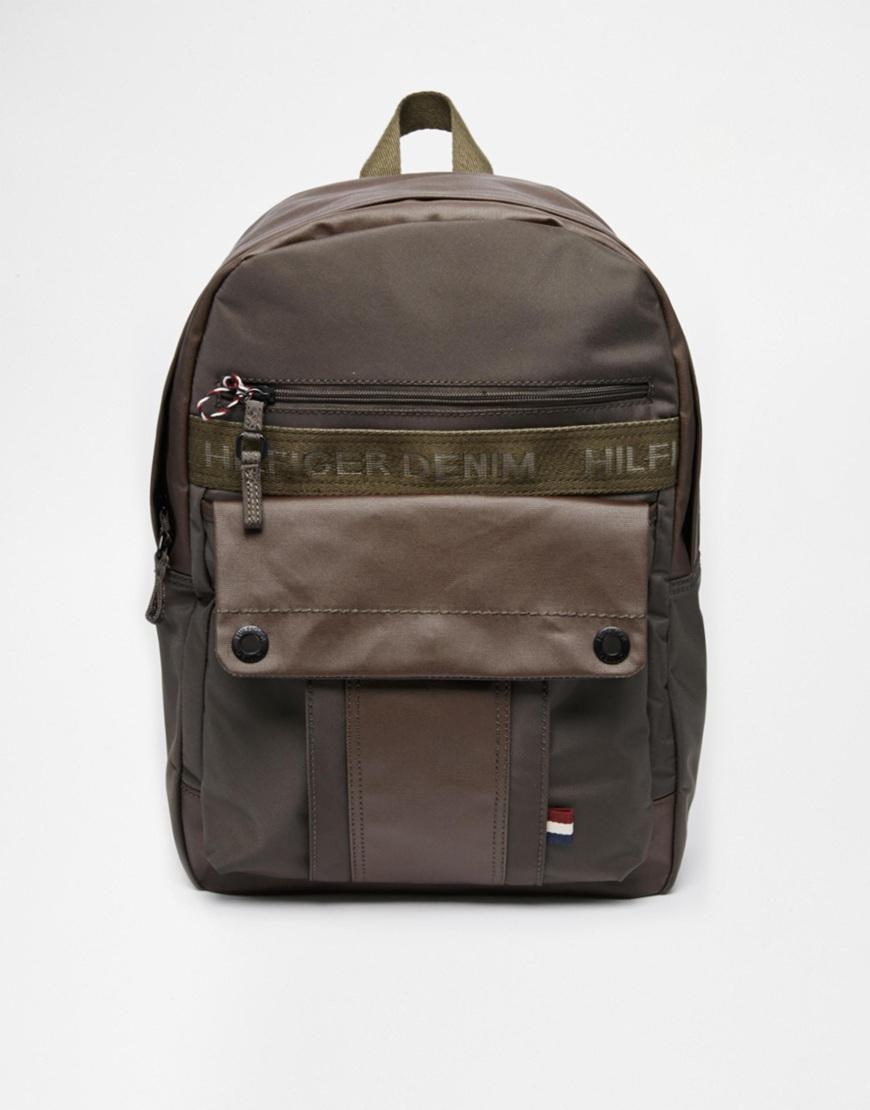 tommy hilfiger backpack in gray for men lyst. Black Bedroom Furniture Sets. Home Design Ideas