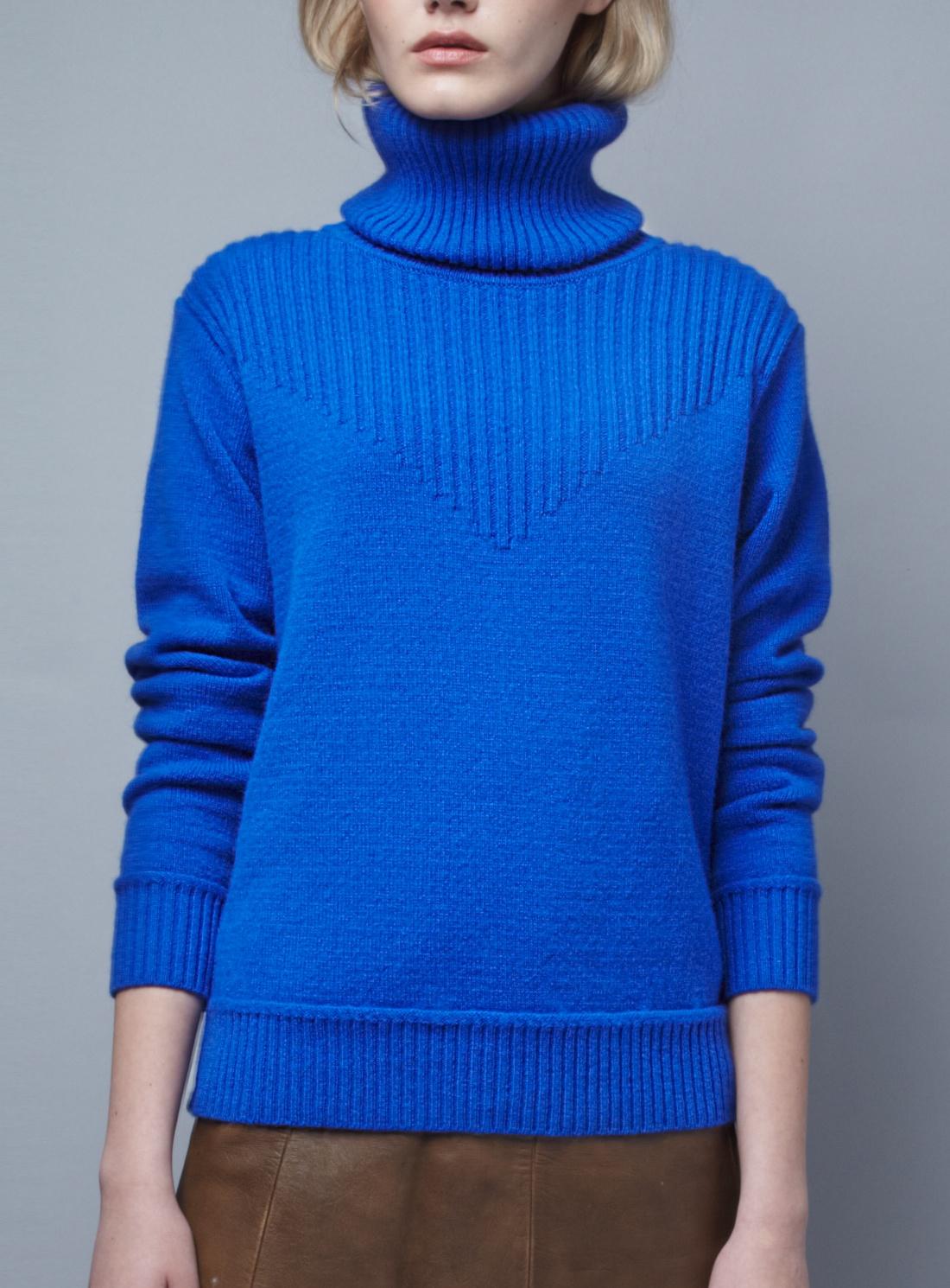 Blake ldn Cobalt Blue Redfern Turtleneck Sweater - Last One in ...