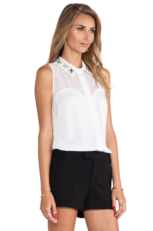 White Blouse Embellished Collar 12