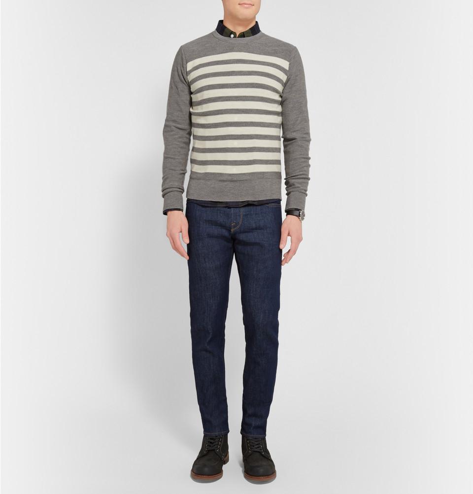 lyst frame l 39 homme cotswolds slim fit denim jeans in blue for men. Black Bedroom Furniture Sets. Home Design Ideas