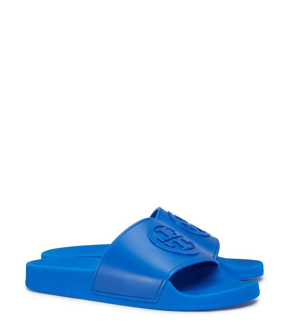 c799109ac6cedf Lyst - Tory Burch Jelly Flat Slide in Blue