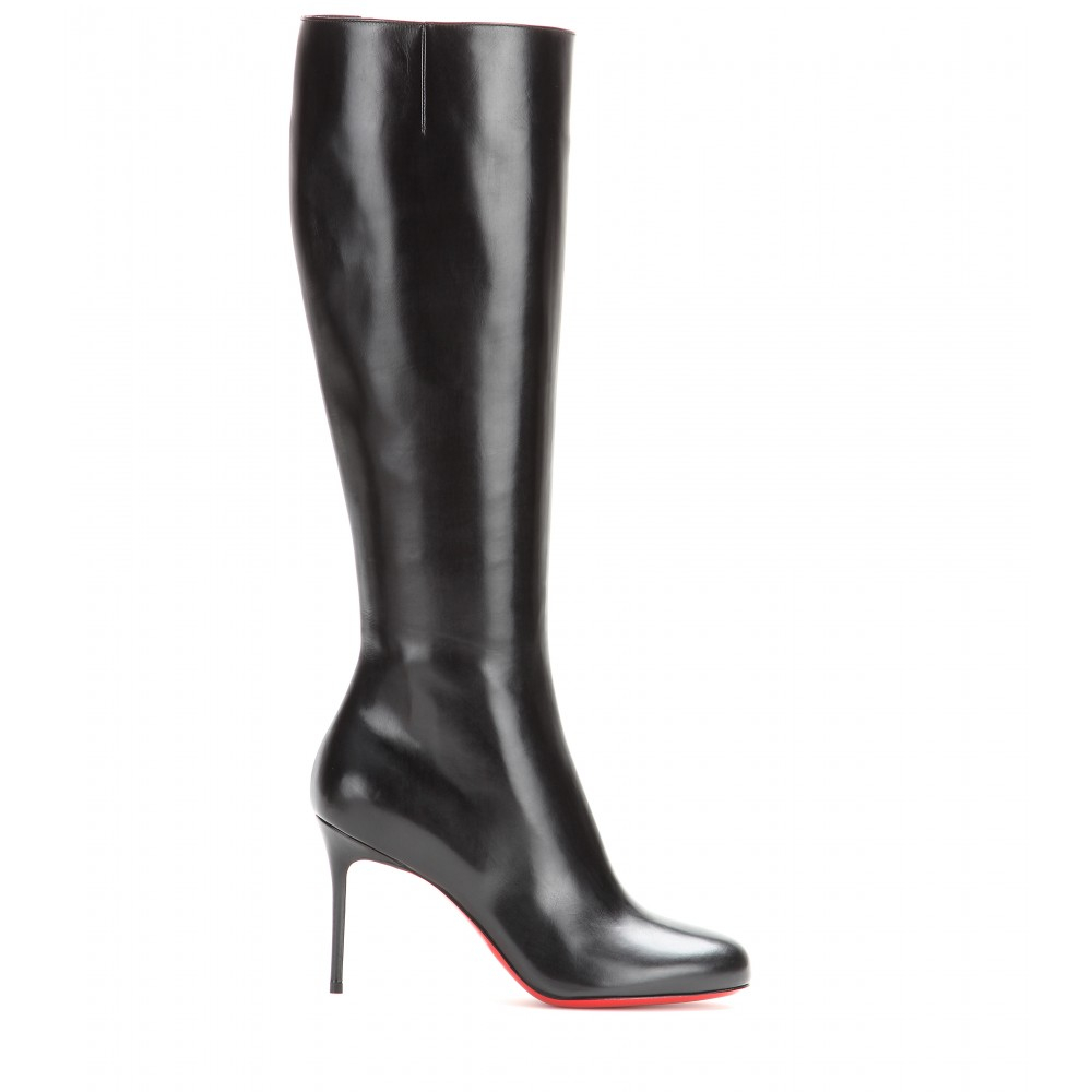 premium selection 4f133 90a7b Christian Louboutin Fifi Botta 85 Leather Boots in Black - Lyst