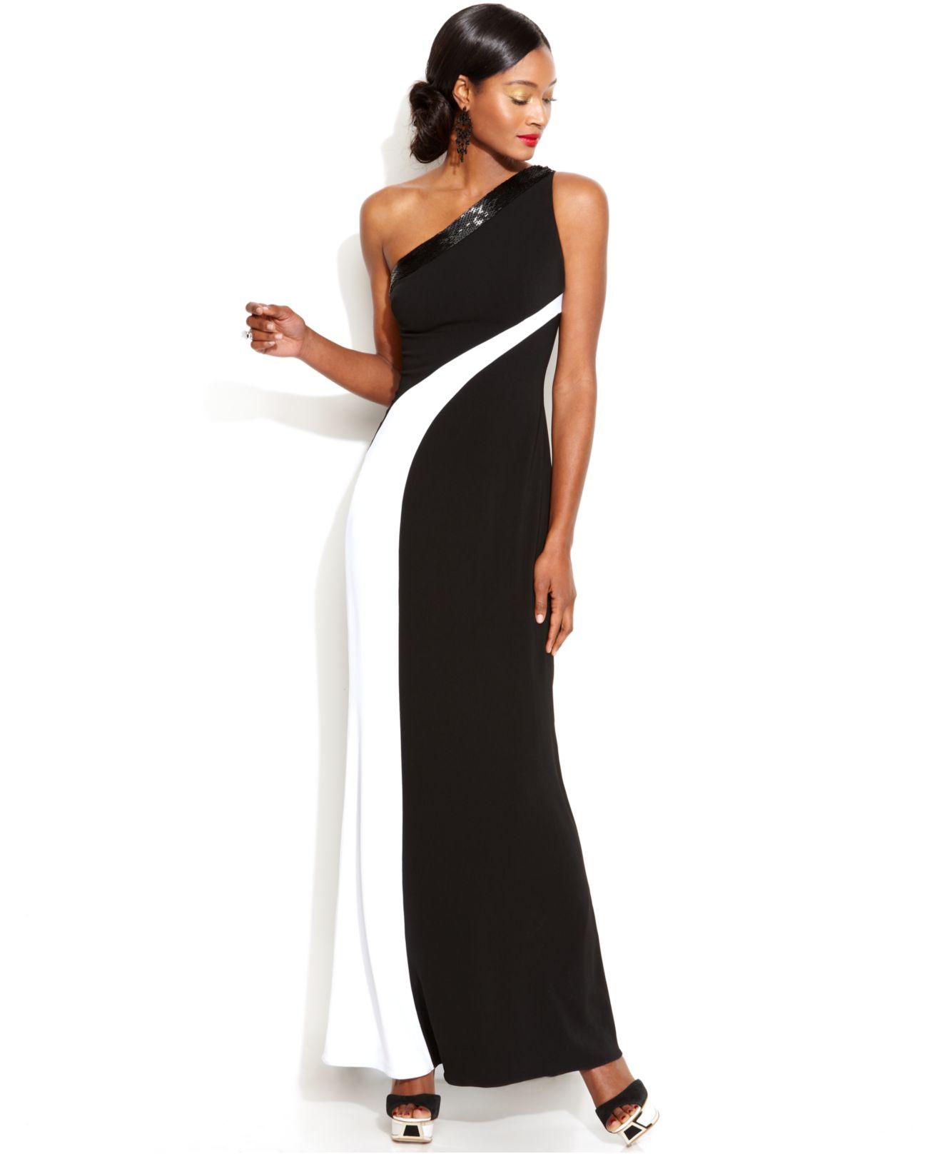 Js boutique black silver mesh keyhole dress