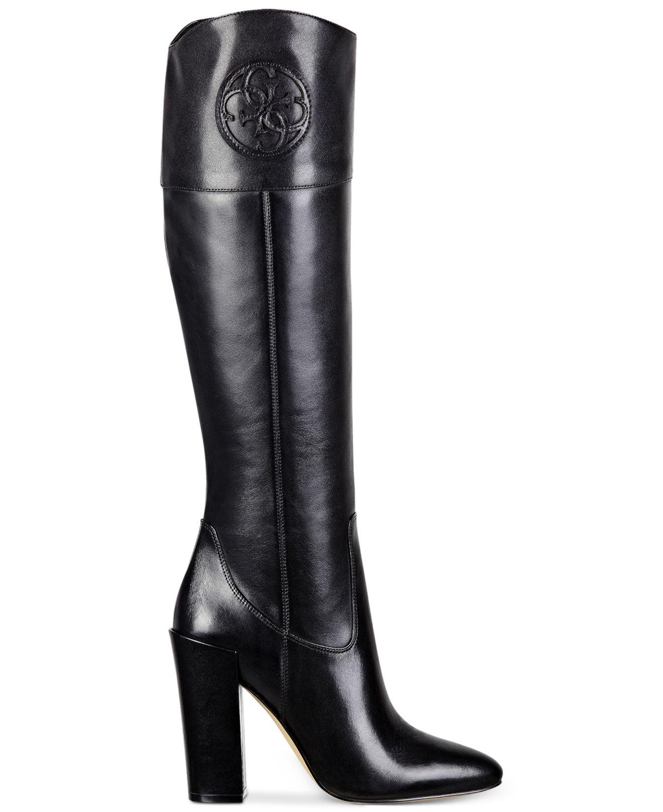 ecbda833a27e5 Guess Women's Dalen Tall High Heel Boots in Black - Lyst