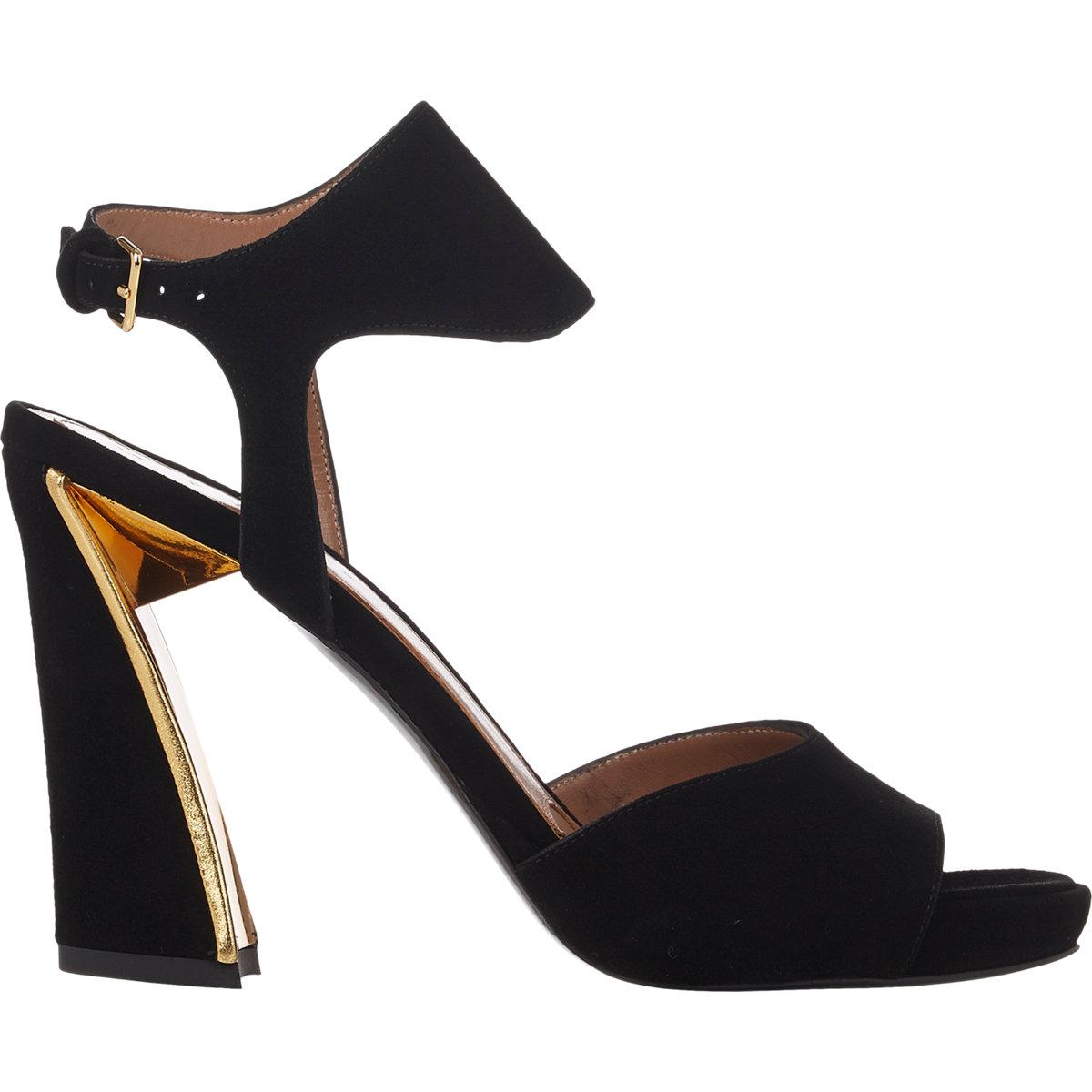 f6148ae75eff05 Lyst - Marni Metal-Trim Ankle-Strap Platform Sandals-Black Size 10.5 ...
