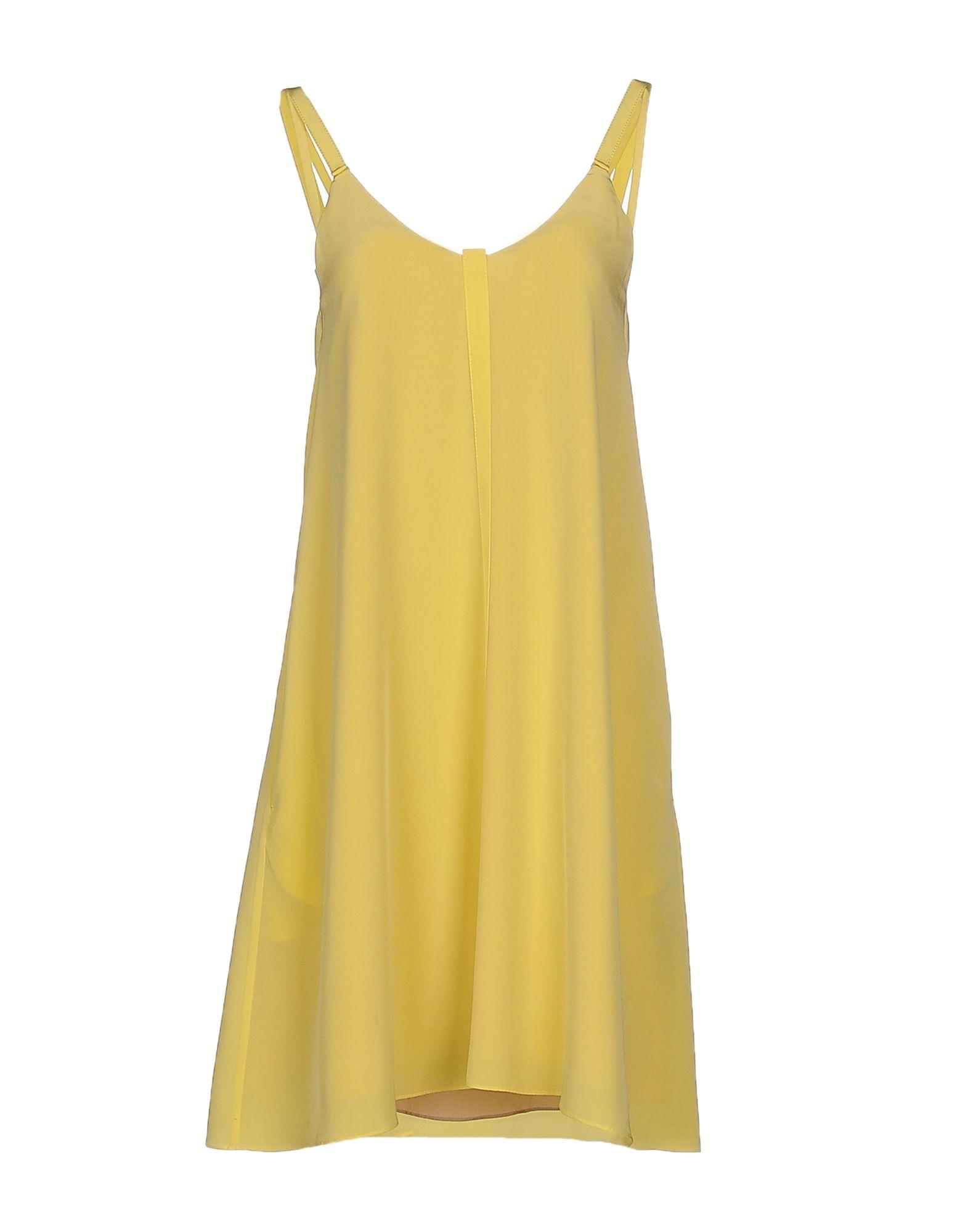 dorothee schumacher short dress in yellow lyst. Black Bedroom Furniture Sets. Home Design Ideas