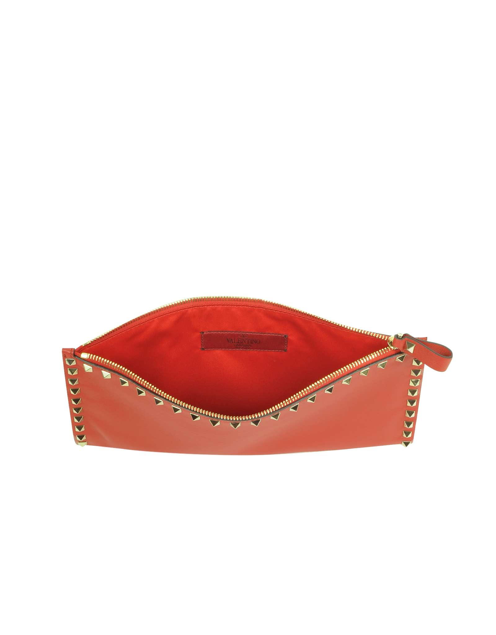 Red Rockstud pouch Valentino qefB3GIxO