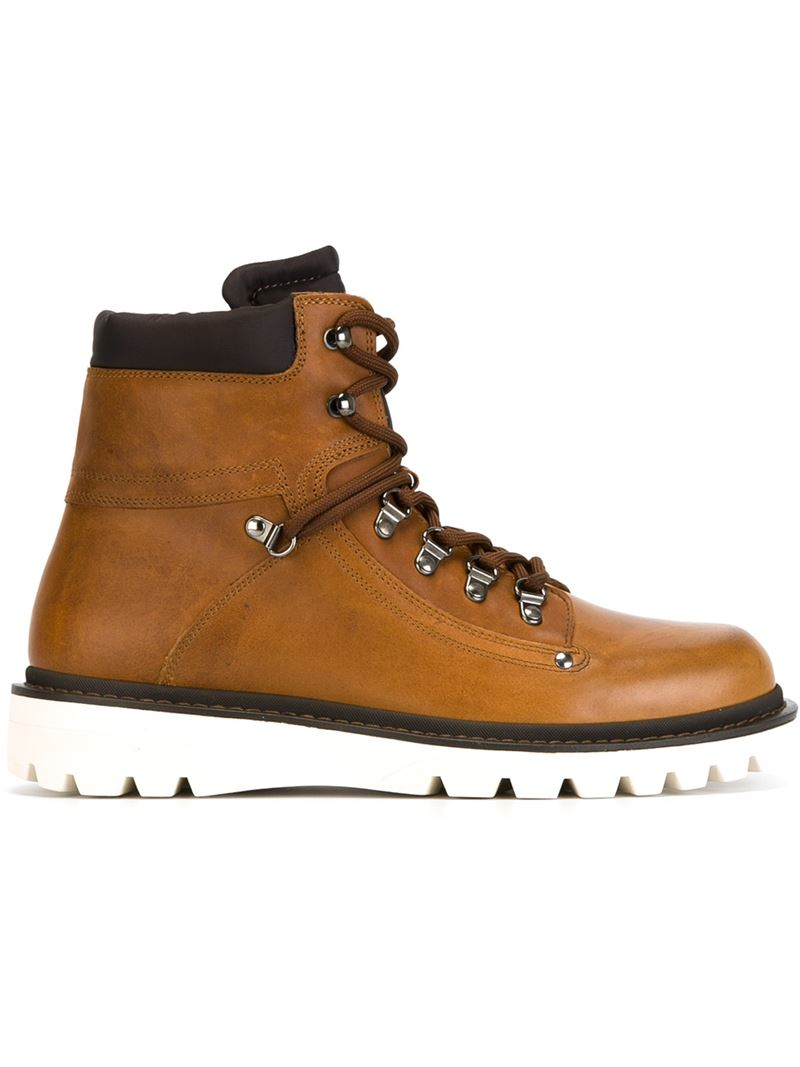moncler egide boots in brown for lyst