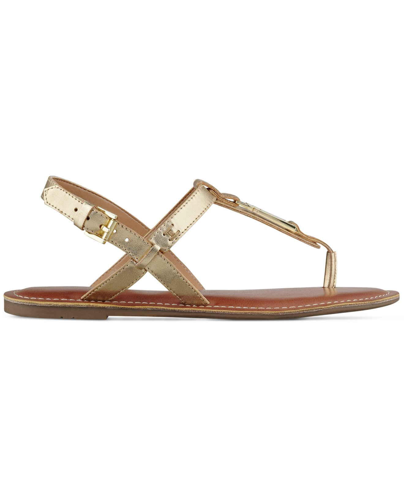 9c3657b5b Lyst - Tommy Hilfiger Lansey Flat Thong Sandals in Metallic