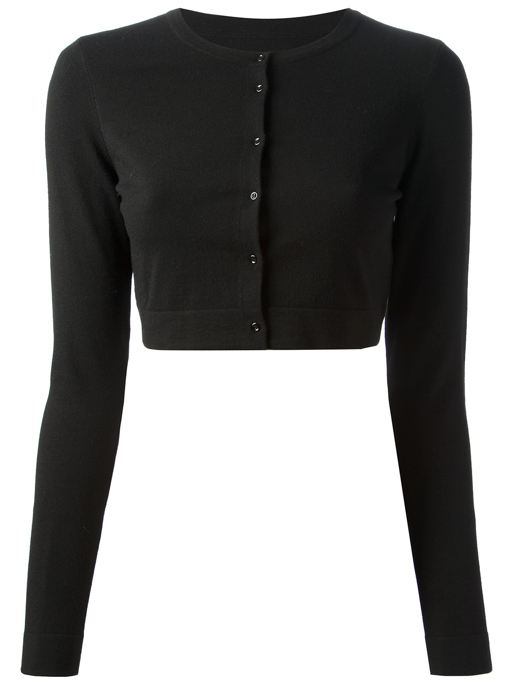 Alaïa Cropped Cardigan in Black | Lyst