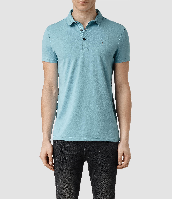 Allsaints Bramford Polo In Blue For Men Lyst